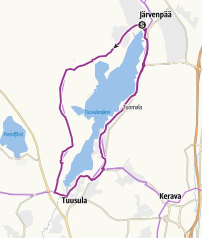 Map / Explore Nature at Lake Tuusula in Helsinki Region