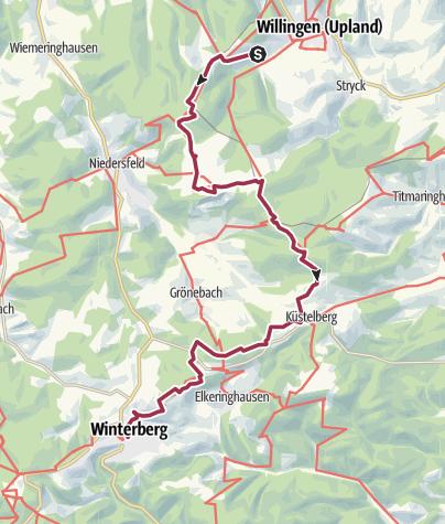Rothaarsteig Karte.Rothaarsteig 2 Etappe Von Willingen Nach Winterberg