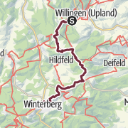 Karte / Rothaarsteig von Willingen nach Winterberg