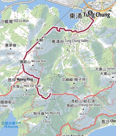 Map / 鳳凰山-大風吹