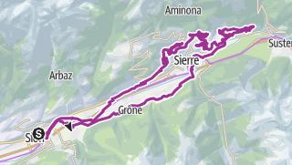 Carte / Nova Eroica Switzerland - Via Rodano