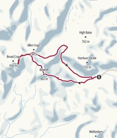 Map / Lake District Walk