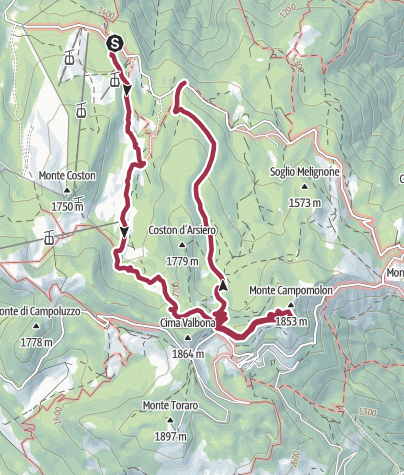 Map / Valle delle Lanze