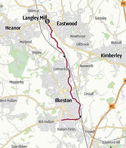 Map / Erewash Valley Trail leg 1