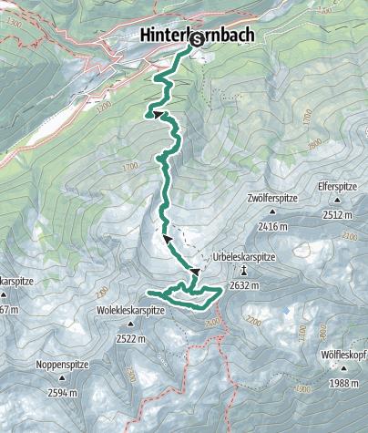 Karte / Bretterspitze Überschreitung