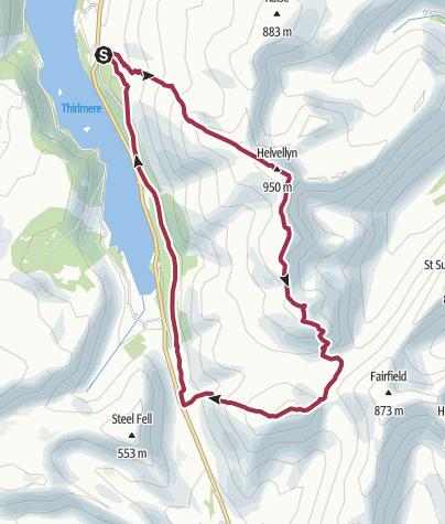 Map / Helvellyn Loop