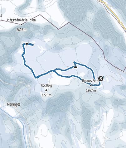 Mapa / Guils Fontanera a Refugio de La Feixa y lagos de Malniu, Sec y Mal