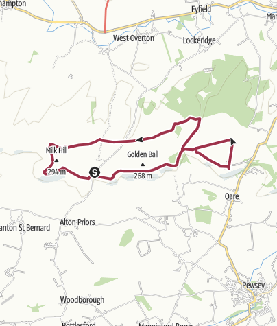 Map / Walkers hill to Huish Down