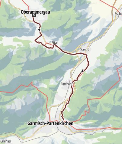 Karte / VIA ROMEA Oberammergau - Garmisch-Partenkirchen (52)