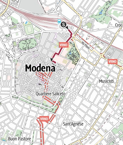 Map / Via Vandelli: Stazione M1 :Modena