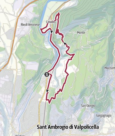 Map / Volargne - Monte - Ceraino