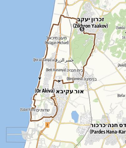Map / זכרון קיסריה על החול