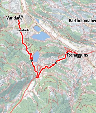 Karte / Von Vandans über Latschau nach Tschagguns