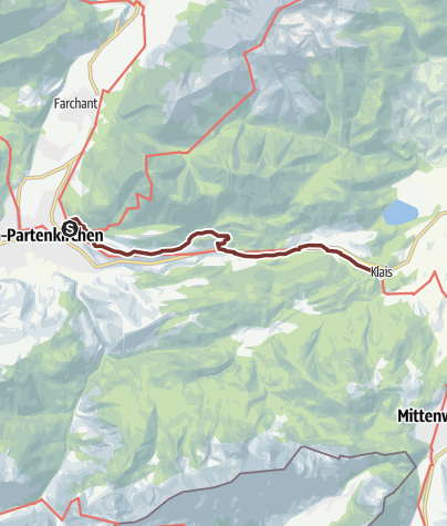 Map / VIA ROMEA Garmisch-Partenkirchen - Klais (53)