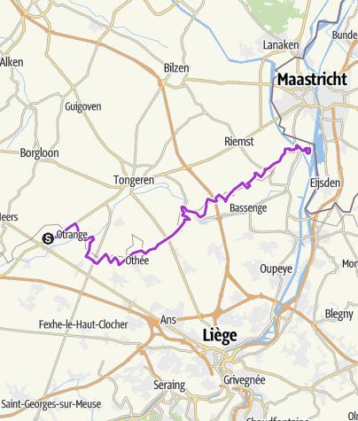 Map / Etape 9 - Oreye (Waremme) - Kanne (Riemst)