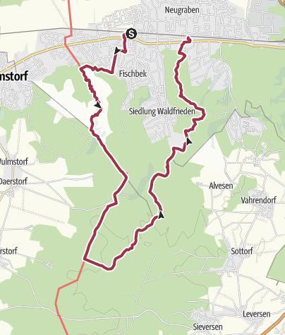 Karte / 13.09.A Neugraben-Fischbek-Neuwiedental (21km)