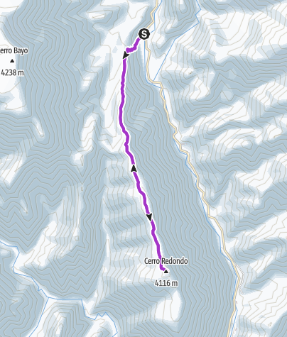 Map / Incamayo-cerro redondo (ida y vuelta)