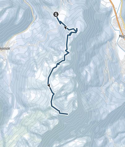 Map / Pointe d'Areu : Depuis Romme