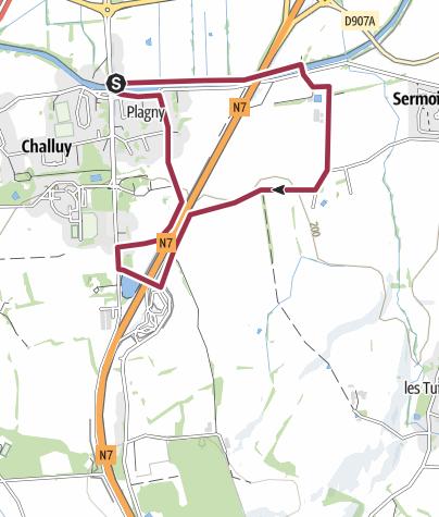 Map / Plagny le port