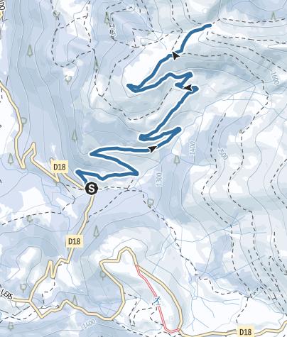Map / Raquettes Col de Rose