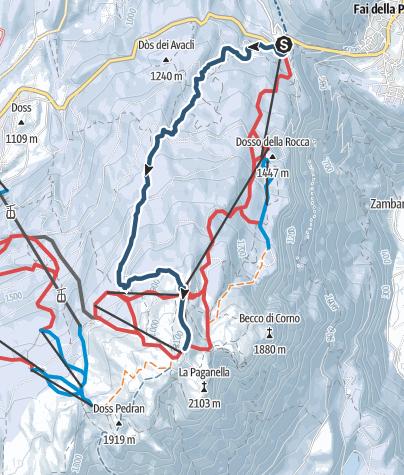 Map / Sentiero tre3 Paganella15/gen/2021 19.41.05
