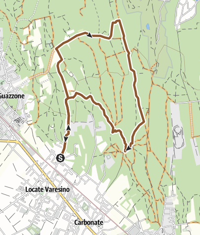 Map / Stagno Proverbio partendo da Locate Varesino