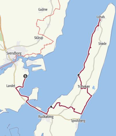 Map / Øhavsstien, Tåsinge og Langeland 2018