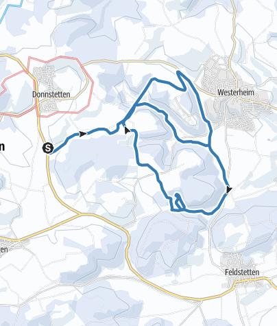 Karte / Tour aus GPX-Track am 17. Januar 2021