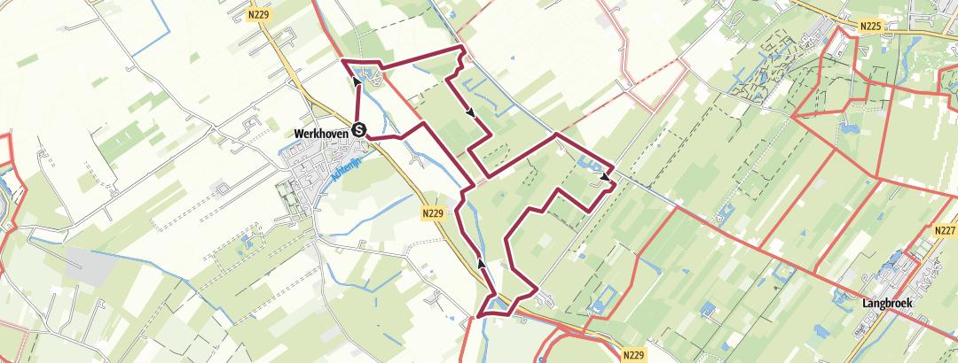 מפה / WALK NL > Werkhoven, Beverweert, Sterkenburg 13K