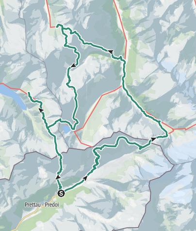 Map / Hut to hut hiking: Three Regions in 6 days