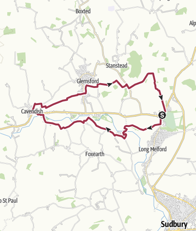 Map / River Stour 4 Melford to Clare loop