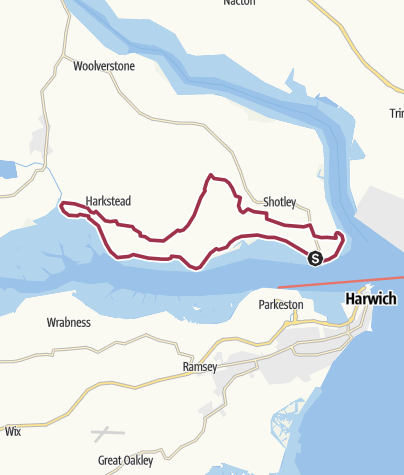 Map / River Stour 11 Shotley Gate to Lower Holbrook loop