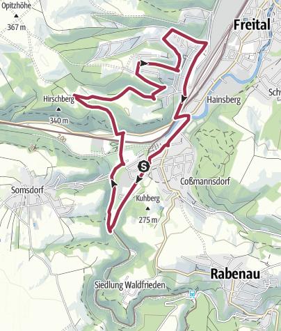 Karte / Hainsberg mit allen Sinnen