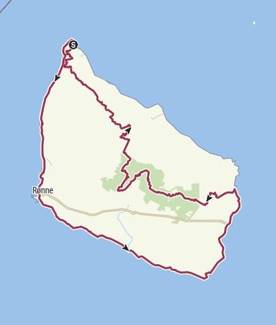 Map / Bornholm rundt via Højlyngstien