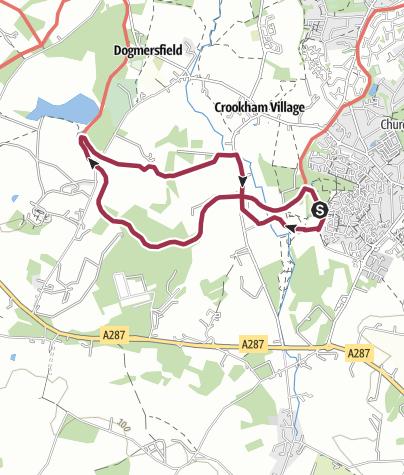Map / Basingstoke Canal from Zebon Copse