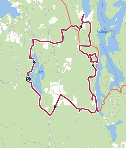 Map / Vandring Bäen - Raslången