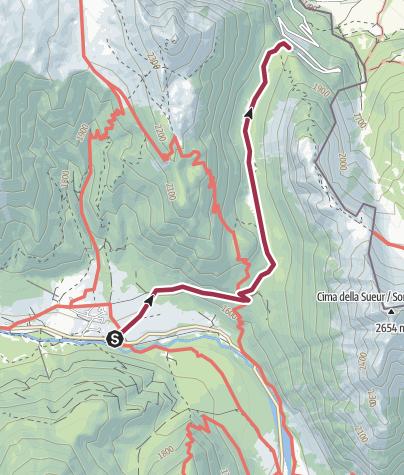 Map / De Roubion au Mauvais Pas