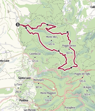 Map / Monteforti e la cascate degli allori
