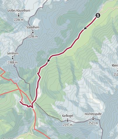 Map / Vom Hintersee zur Litzlalm