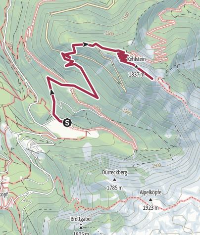 Map / Auf den Kehlstein