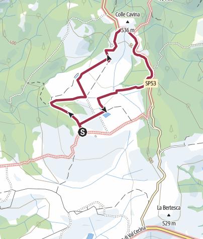 Map / grey path pignano