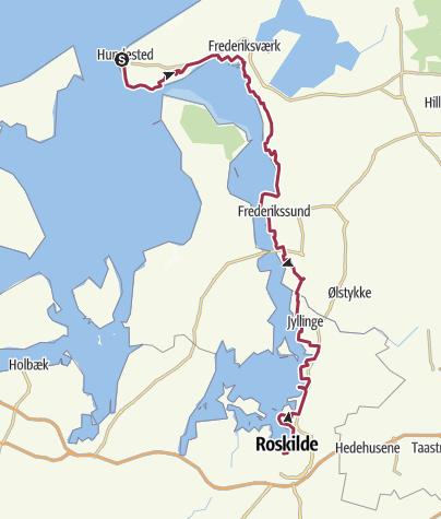 Map / Fjordstien, Hundested-Roskilde, 2016