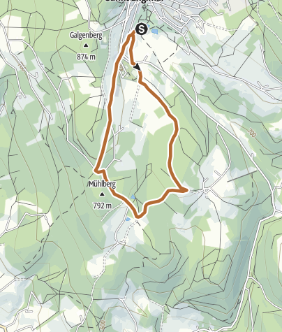 Map / #laufenimgrenzbereich2021 Nordic Walking 5 km