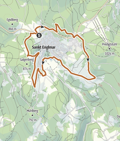 Map / #laufenimgrenzbereich2021 Nordic Walking 10 km