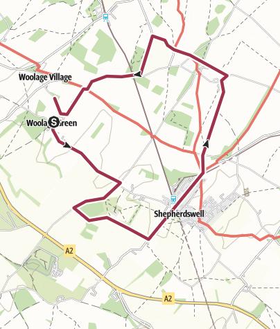 Map / Woolage - Shepherdswell