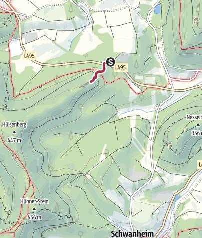 Karte / Zustieg - Hülsenfelsen