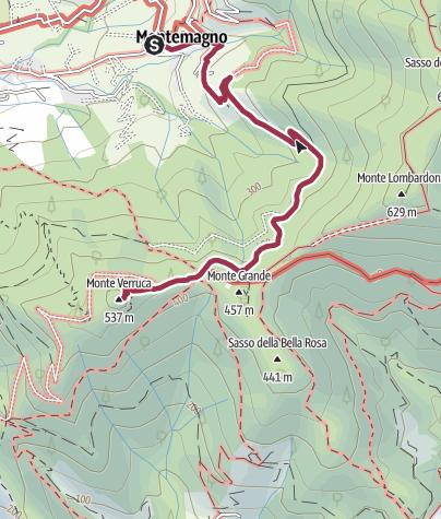 Map / 2021 01 24 Verruca la Rocca da Montemagno