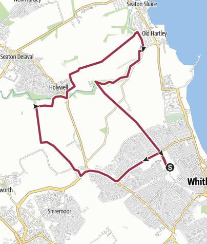 Map / Monkseaton, Earsdon and Holywell