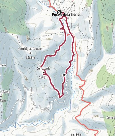 Map / Ruta Cerro Larda