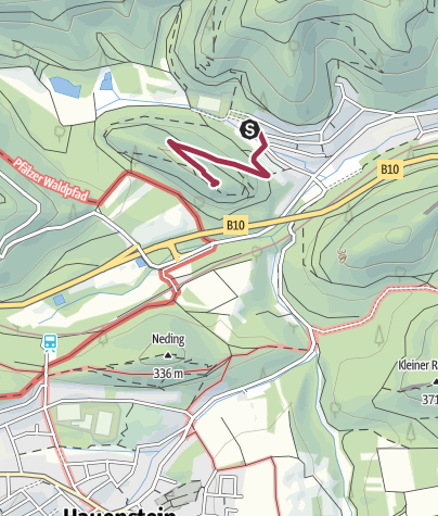 Karte / Zustieg - Falkenburg